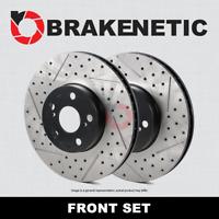 [FRONT SET] BRAKENETIC PREMIUM Drilled Slotted Brake Rotors w/Brembo BNP61089.DS