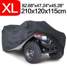 XL Black ATV Quad Bike Cover Universal Anti-UV For Honda Yamaha Kawasaki Polaris