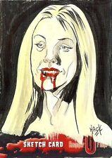 Hammer Horror Series 2 Sketch Card drawn by Robert Hack /12