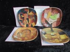 Rosenthal 4 Sammelteller / Platten Bradex Paul Klee Meisterwerke in Rot