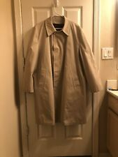 Vintage Tan London Fog Maincoats Jacket Coat Mens Overcoat Zip in Liner 44R