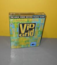 New 1994 Vid Grid PC Rock Video Moving Puzzle Game CD w/ Aerosmith Cryin