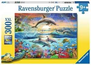 Ravensburger Dolphin Paradise Jigsaw Puzzle XXL 300pc - Kid's Ocean Sea puzzle