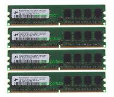 Micron 8GB 4X 2GB DDR2 PC2-4200U 2RX8 533MHz 240PIN DIMM Desktop Memory RAM CL4