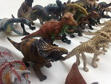 NEW 34 PCS TOYS SAFARI SET DINOSAURS ANIMAL FIGURE DINO KIDS COLLECTABLE PLAYSET
