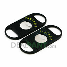 PARTAGAS DOUBLE BLADE STAINLESS STEEL SURE-CUT CIGAR CUTTER - PACK OF 2