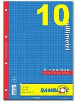 RICAMBIO RINFORZATO QUADRETTI 10mm (10 PEZZI, 10 RICAMBI QUADRETTI 1cm) (A4)