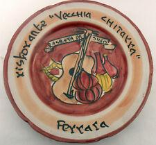"""RISTORANTE """" VECCHIA CHITARRA ( Ferrara ) PIATTO CERAMICA del Buon Ricordo"""
