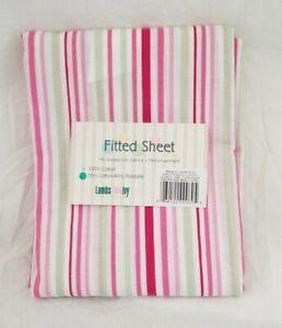 Lambs & Ivy Stripe Fitted Crib Sheet NIP