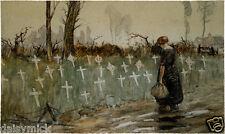 George Edmund Butler A Roadside Cemetery Near Neuve Eglise World War 1 7x4 Print