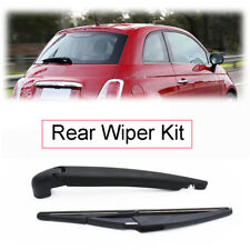 Rear Windscreen Wiper Blade Arm Set For Fiat 500 500X 2007 2008 2009 2010