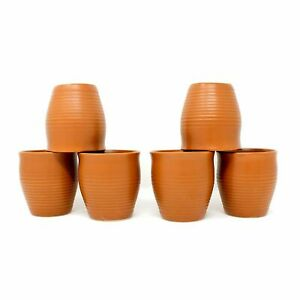 Ceramic Handmade Indian Traditional Style Kullad Cup-6 pcs