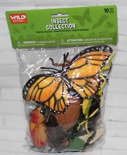 Wild Republic Polybag INSECT Collection 10 Piece Bugs PVC Plastic Playset NEW