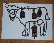 Ancienne sonnaille de porte vache clochette fer forgé Ferme du haut Doubs Jura