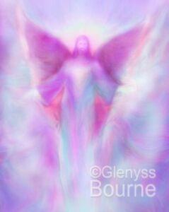 ARCHANGEL ZADKIEL Picture Spiritual Healing Angel Art Painting by Glenyss Bourne