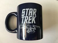 Star Trek Mug, Enterprise NCC-1701, Blueprint, Schematic, Navy Blue And White