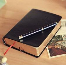 Vintage Thick Paper Notebook Notepad Leather Diary Book Journal Blank Paper Page