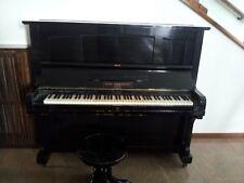 Pianoforte verticale in legno nero (GEBR. ZIMMERMANN) in ottime condizioni