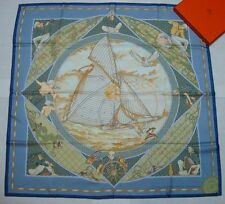 """NEW Authentic Hermes silk scarf """"VOYAGE AU LONG COURS"""""""