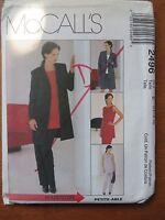 McCall's Sewing Pattern no.2496 size 14,16,18 top, jacket,skirt & slacks unused