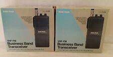 2 RadioShack 19-1202 Realistic Business Band 2-Channel VHF FM Radio Transceivers