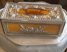 Vintage Tissue Kleenex Dispenser Holder Cover Box Yellow Retro