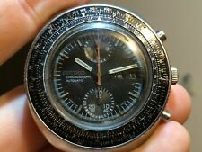 Vintage men's Seiko Calculator Slide Rule automatic chronograph watch 6138-7000