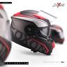 SOXON ST-1000 RACE RED INTEGRAL-HELM ― MOTORRAD-HELM FULL-FACE ROLLER ― XS–XXL