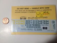 Herald King  decals HO C-500 Reading green yellow caboose