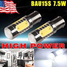 2PCS White BAU15S 1156PY 7.5W Turn Signal/Backup/Tail/ LED Light bulbs 7507 5007