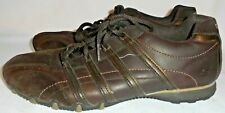 SKECHERS, LADIES BROWN LEATHER ATHLETIC SHOE, SIZE  10 M