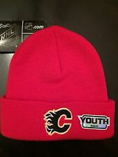 Calgary Flames NEW Youth Winter Hat .  Hoodie Toque Jersey Girls Boys NHL Red