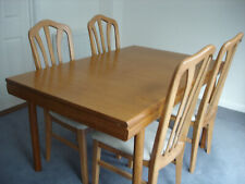 Vintage Retro White and Newton Extending Teak Dining Table and 6 Chairs