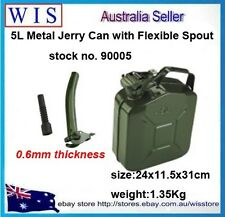 5L Metal Jerry Can Fuel Engine Diesel Petrol Oil Storage Container & Spout-90005