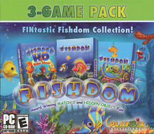FISHDOM 3 PACK - Hidden Object & Match 3 FINtastic Collection - H20 Odyssey -NEW