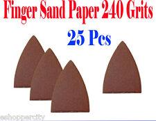 Pack 25 Sandpaper Oscillating Multi Tool Fein 240 Grits Finger Sand Paper hook