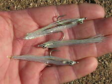 Pearl Polarflash Clouser Minnows-Saltwater Freshwater Killer flies!