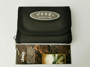 Jeep Mens Nylon Wallet Trifold Jeep Black