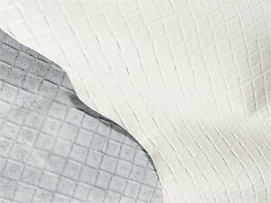 White Gloss Diamond Leather Cow Hide Cowhide Accessory Bag Craft Avg 23 SqFt