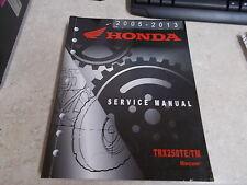 NOS OEM Honda Service Manual 2005-2013 TRX250 TE TM 23 Chapters WPG2000-1200-11