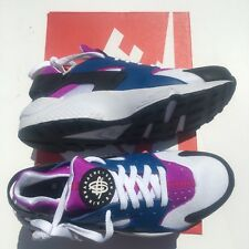 bf1f43f0832ee NEW Nike Air Huarache Mens Shoes Size 9 Blue Jay White Hyper-Violet 318429-