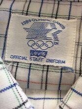 Levis 1984 Olympics Official Staff Uniform Collector Button Front Shirt LA VTG