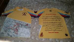 Gulf War 1 /Op Granby Oath Rugby shirt with battle map +rats, 25 Anniversary AvN