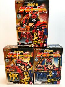Power Rangers Jungle Fury Gekiranger Mini Pla Geki Touja Megazord NEW DHL F/S