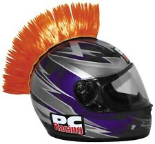 MOTORCYCLE ATV QUAD DIRT ROAD BIKE HELMET MOHAWK ORANGE (Helmet Not Included)