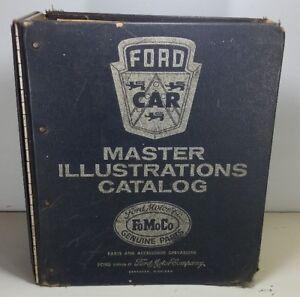 1973 FORD LINCOLN MERCURY FOMOCO MASTER ILLUSTRATION CATALOG MANUAL BOOK Vtg