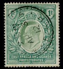 África Oriental & Uganda - 1907 1r Verde SG 26 bueno usado V15524