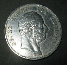 5 Mark 1903 E Georg König von Sachsen - Fünf Mark - Silbermünze Deutsches Reich
