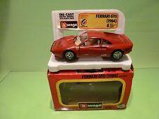 BBURAGO 0172 FERRARI GTO 1984 - RED 1:24 - EXCELLENT CONDITION IN BOX