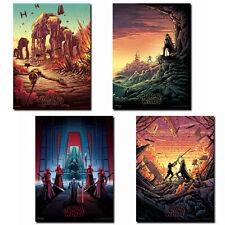 Set Of 4 pcs Star Wars The Last Jedi 12x8inch Movie Silk Poster Wall Decals